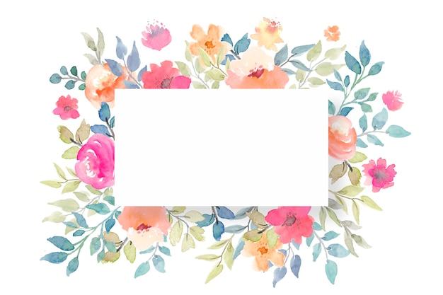 Modelo de cartão em branco floral Psd grátis