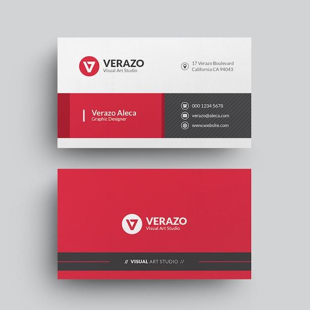 Modelo de cartão empresarial moderno Psd Premium