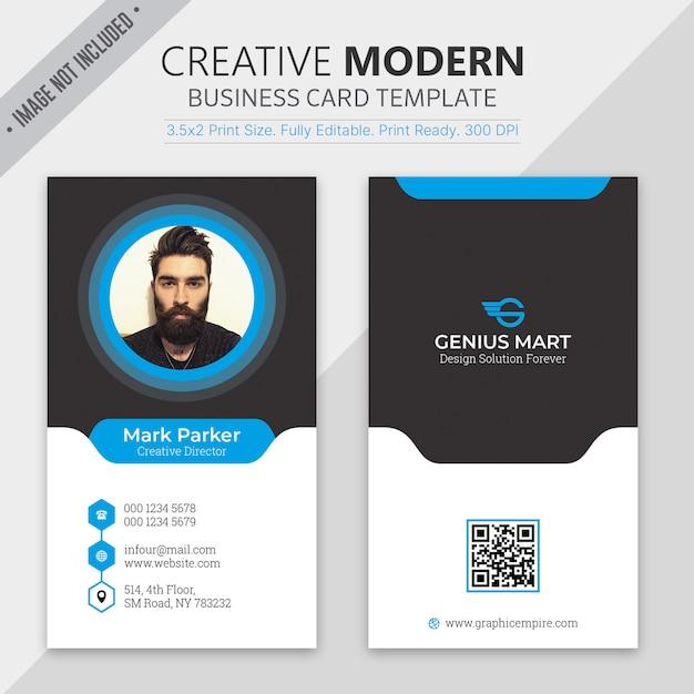 Modelo de cartão moderno Psd Premium