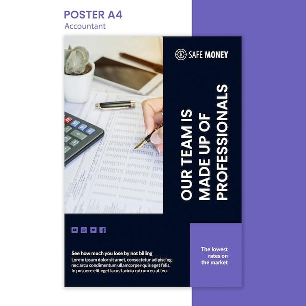 Modelo de cartaz - conceito de contador Psd grátis