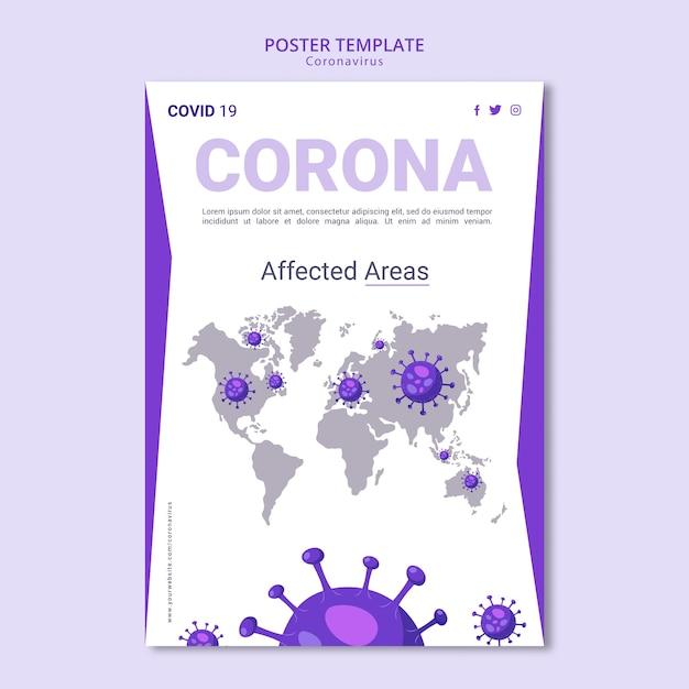 Modelo de cartaz - coronavírus Psd grátis
