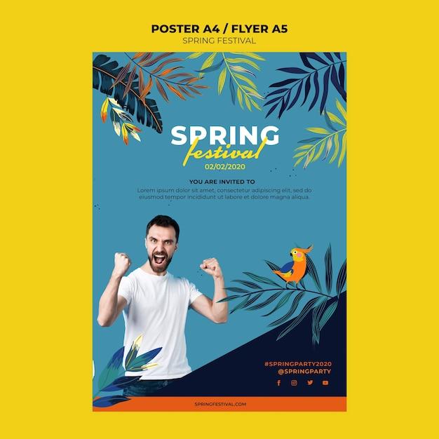 Modelo de cartaz criativo primavera Psd grátis
