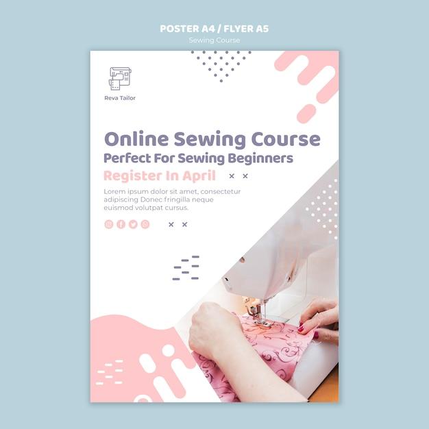 Modelo de cartaz - curso de costura Psd grátis