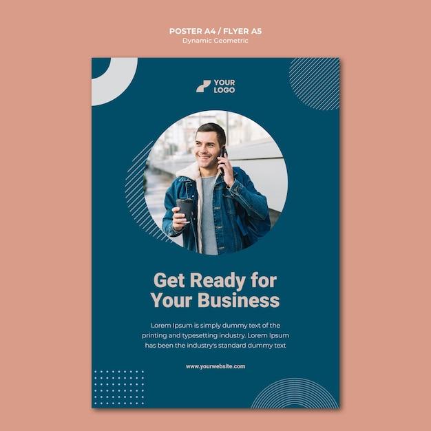 Modelo de cartaz de anúncio empresarial Psd grátis