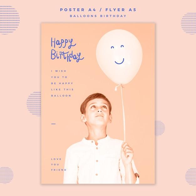 Modelo de cartaz de feliz aniversário Psd grátis