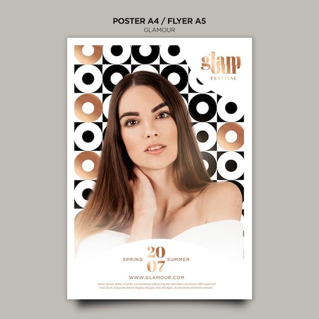 Modelo de cartaz de glamour moderno Psd grátis