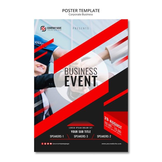 Modelo de cartaz de negócios abstratos Psd grátis