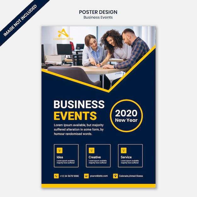 Modelo de cartaz de negócios corporativos Psd Premium