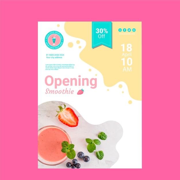 Modelo de cartaz de restaurante smoothie Psd grátis