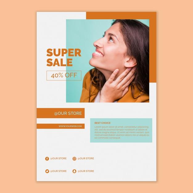 Modelo de cartaz de vendas Psd grátis