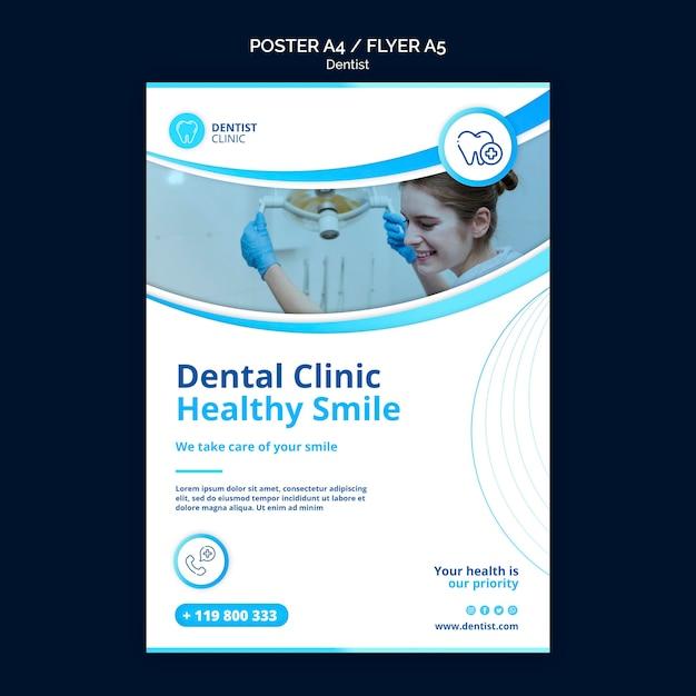 Modelo de cartaz - dentista Psd grátis