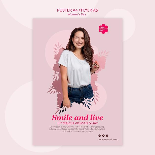 Modelo de cartaz - dia das mulheres Psd grátis