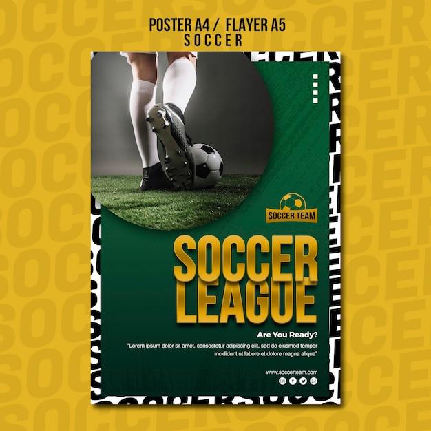 Modelo de cartaz - escola de futebol da liga Psd grátis