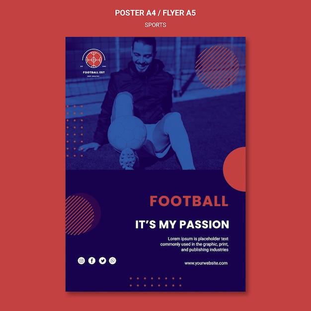 Modelo de cartaz - jogador de futebol Psd grátis