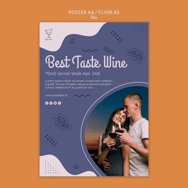 Modelo de cartaz - loja de vinhos Psd grátis
