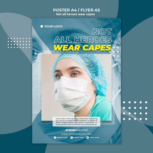 Modelo de cartaz - médico no hospital Psd grátis