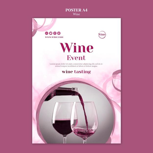 Modelo de cartaz para degustação de vinhos Psd grátis