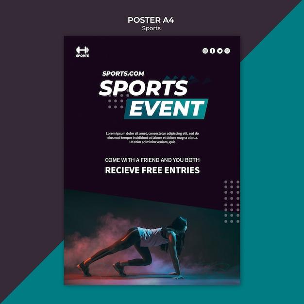 Modelo de cartaz para evento esportivo Psd grátis