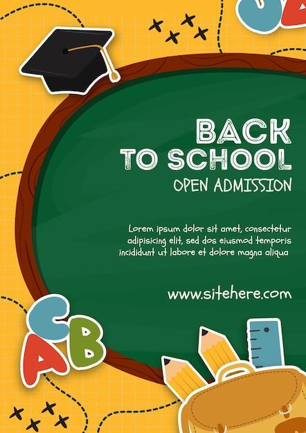 Modelo de cartaz para voltar ao evento da escola Psd grátis
