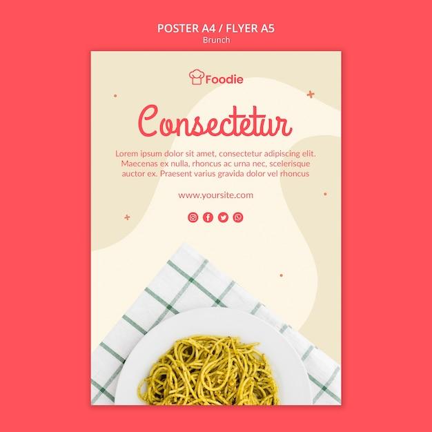 Modelo de cartaz - restaurante Psd grátis