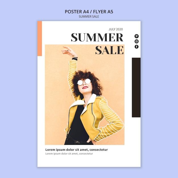 Modelo de cartaz - verão Psd grátis