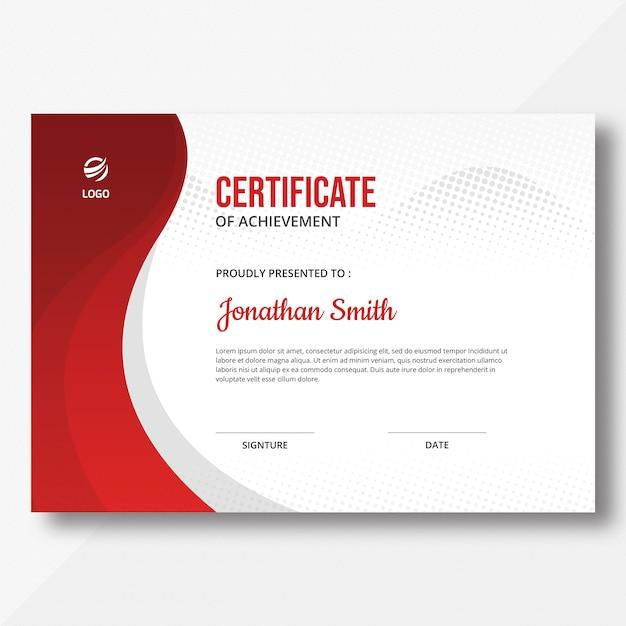 Modelo de certificado waves & halftone Psd Premium