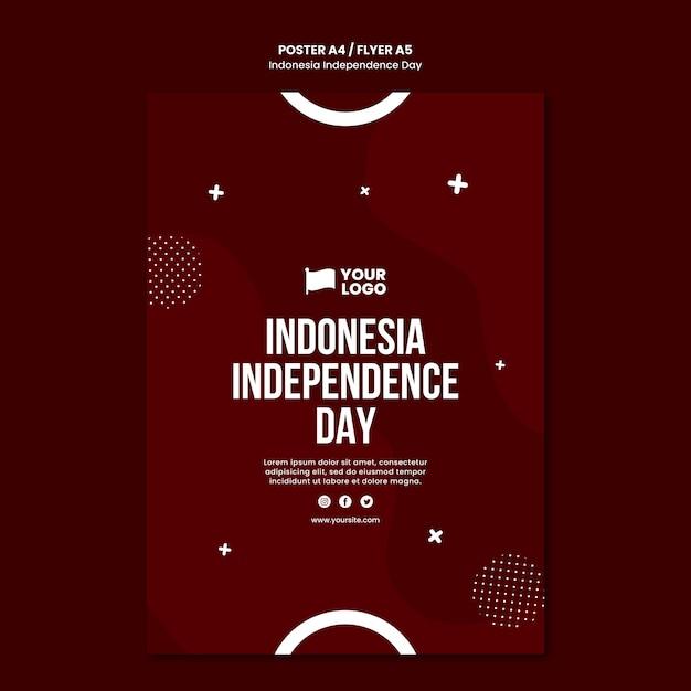 Modelo de conceito de pôster do dia da independência da indonésia Psd grátis