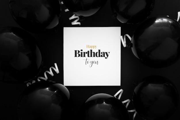 Modelo de convite de aniversário elegante Psd grátis