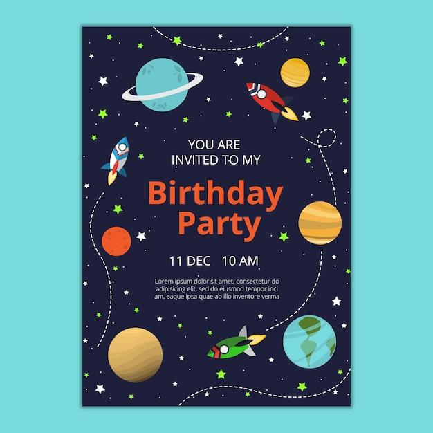 Modelo de convite de aniversário Psd grátis