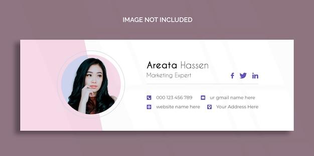 Modelo de design de assinatura de email ou modelo de capa de mídia social pessoal Psd grátis