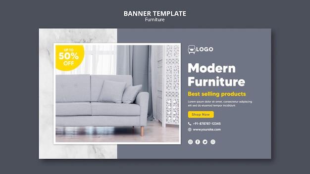 Modelo de design de banner de móveis modernos Psd Premium