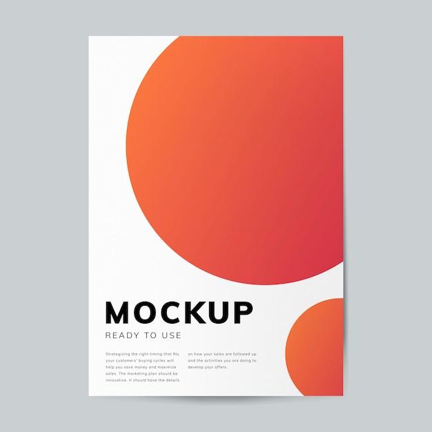 Modelo de design de brochura maquete Psd grátis