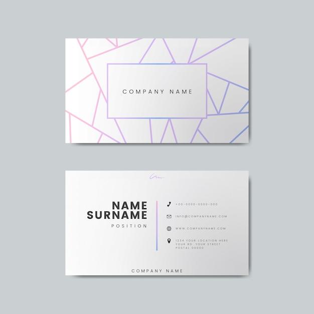 Modelo de design de cartão de visita em branco Psd grátis
