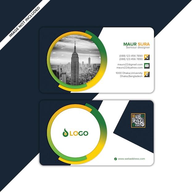 Modelo de design de cartão de visita Psd Premium