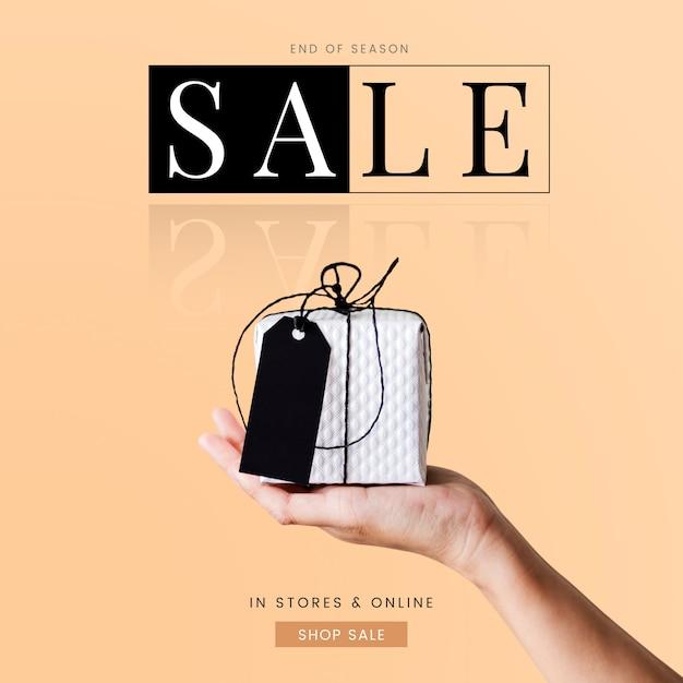 Modelo de design de cartaz de anúncio de promoção de venda Psd Premium