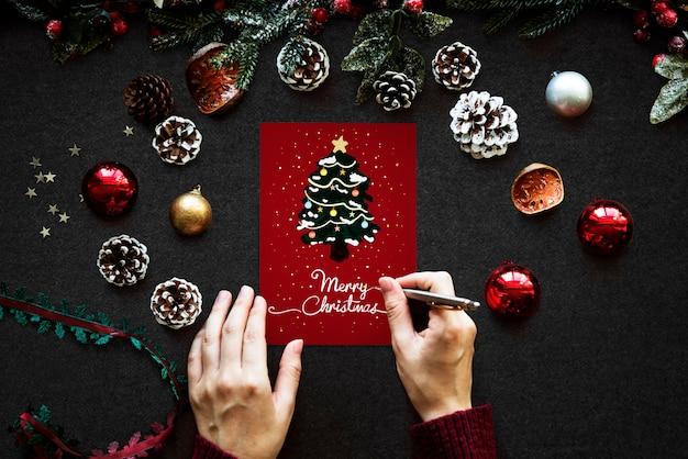 Modelo de design de saudação de feriado de natal Psd grátis