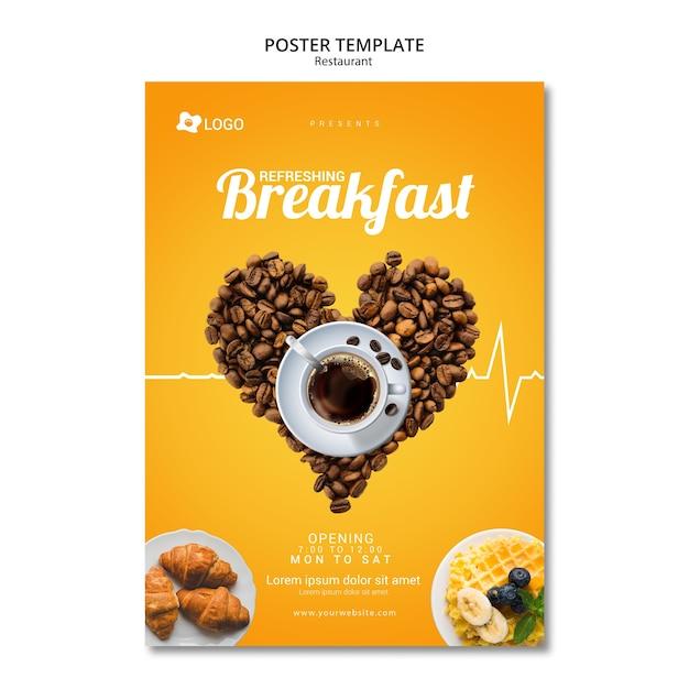 Modelo de design moderno cartaz para restaurante Psd grátis
