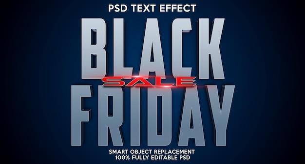 Modelo de efeito de texto da black friday Psd Premium