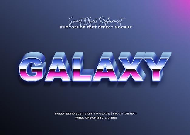 Modelo de efeito de texto de galáxia de estilo 3d Psd Premium