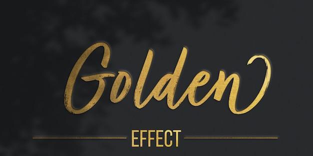 Modelo de efeito de texto de textura dourada Psd Premium