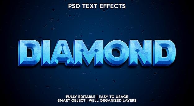 Modelo de efeito de texto diamante Psd Premium