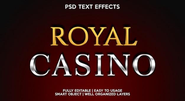 Modelo de efeito de texto do royal casino Psd Premium