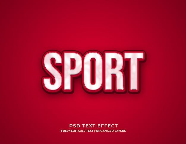 Modelo de efeito de texto editável de esporte Psd Premium