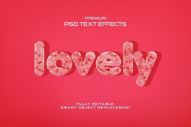 Modelo de efeito de texto lindo dia dos namorados Psd Premium