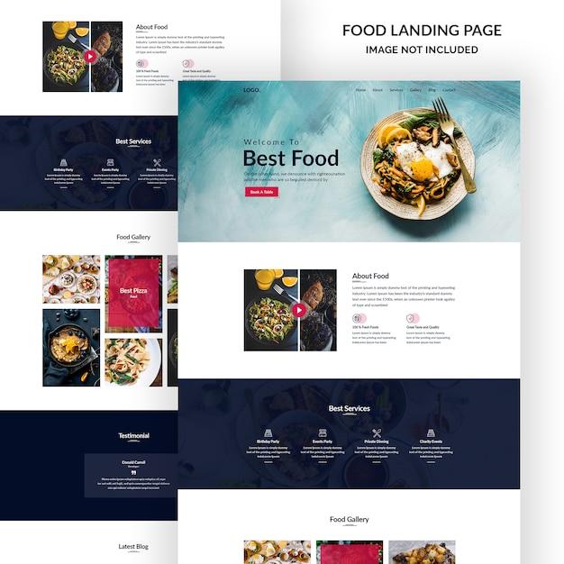 Modelo de email - festival de comida Psd Premium