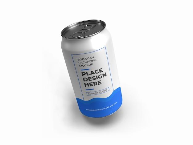 Modelo de embalagem de lata de refrigerante isolado Psd Premium