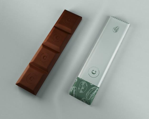Modelo de embrulho de chocolate puro Psd grátis