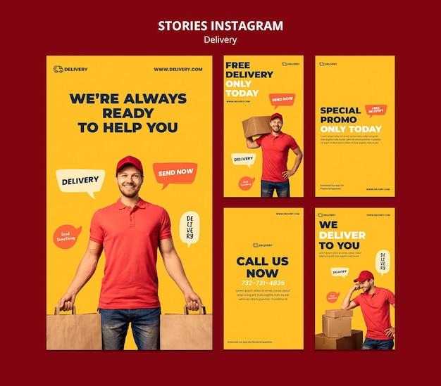 Modelo de entrega de histórias do instagram Psd grátis