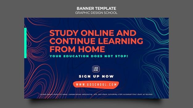 Modelo de escola de design gráfico de banner Psd grátis
