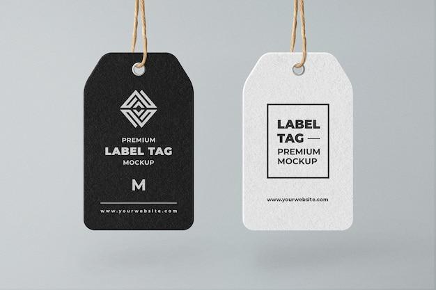 Modelo de etiqueta de etiqueta pendurada em preto e branco minimalista Psd Premium